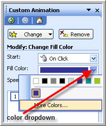 Change the fill color setting