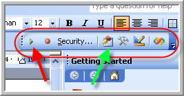 vba toolbar
